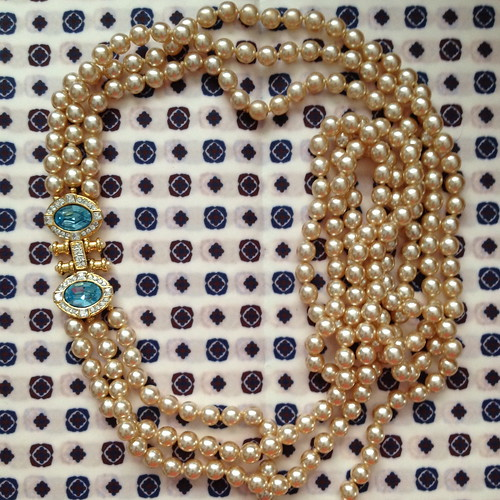 nolan miller aqua pearl necklace