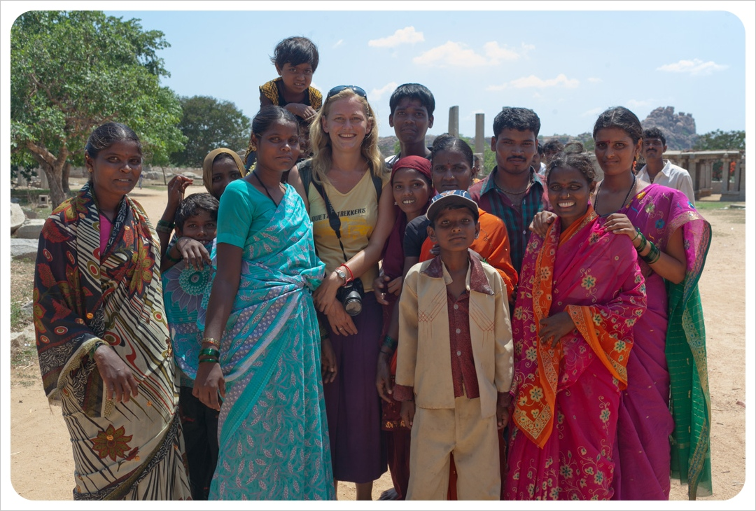 dani with indian family in hampi