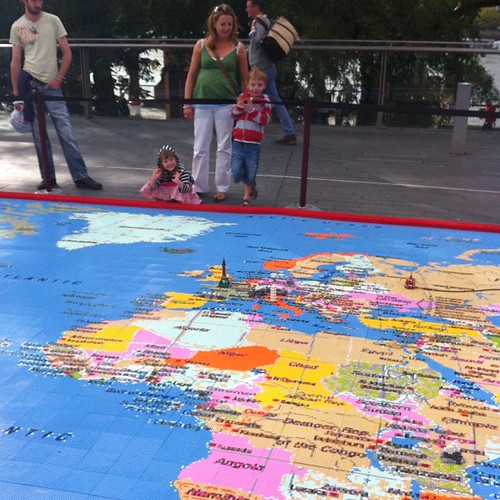 A 1 Million Piece Lego Map Of The World.