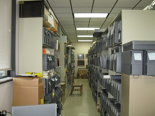 Part of the storage area, Marianist Archives (Dayton, Ohio)