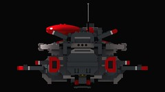 Space Marines Bulwark Gunship: Ortho Back View