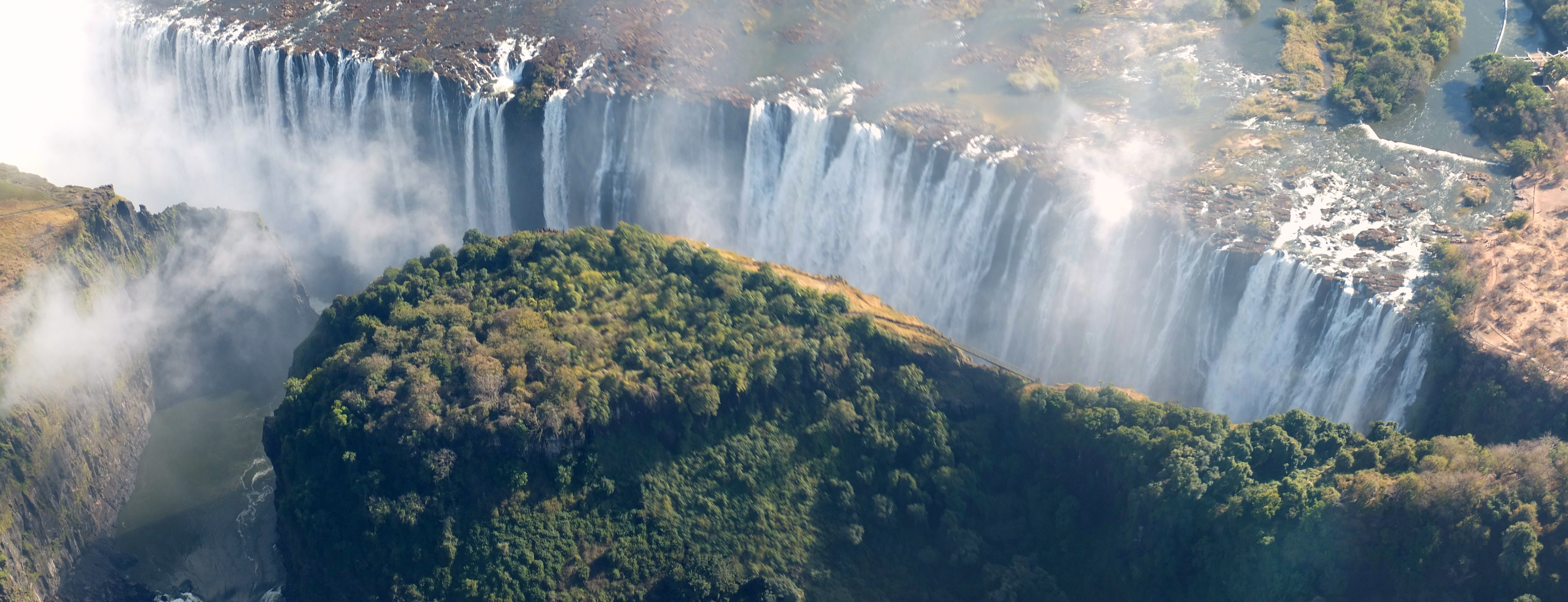 Panorama: Victoria Falls from above