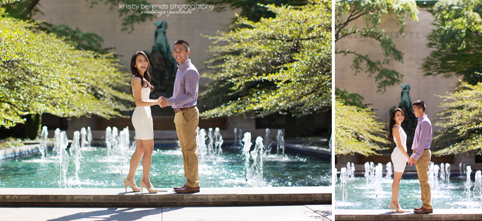Chicago Art Institute Engagement Session