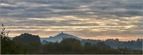 autumn light england sky mist sunrise landscape photo october somerset tor 2012 rspb meare hamwall steviepix glasstonburytor