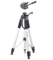 The tripod is highly adjustable.