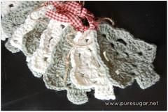 Country Christmas Crochet Garland