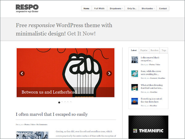 Respo Free WordPress Theme