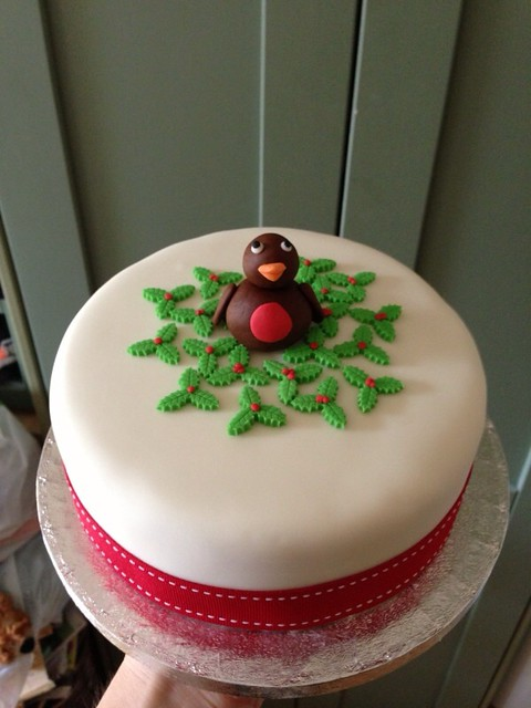 Christmas Cake Ideas Robin : Robin Christmas cake Flickr - Photo Sharing!