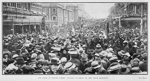 Armistice celebrations in Dunedin.