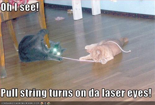 laser pull string