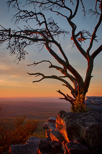 sunset landscape alabama pulpitrock cheaha cheahastatepark