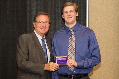 Colin Carson receives Cliff Neufeld Award 2013-14 (Andrew Snucins)