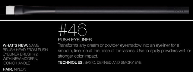 NARS Artistry Brush #46 - Push Eyeliner Brush