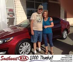 #HappyBirthday to Kenny & Pamela from Kathy Parks at Southwest KIA Rockwall!