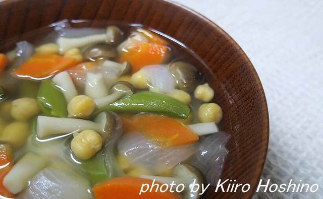 蒸し豆、ひよこ豆スープ