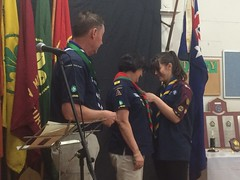 * Don't just be, be exceptional * Congratulations to Annie on her Queen's Scout presentation. Awesome!