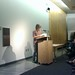 Eileen Myles reading at the Poetry Center in Tucson October  8, 2009 Cell Phone photos