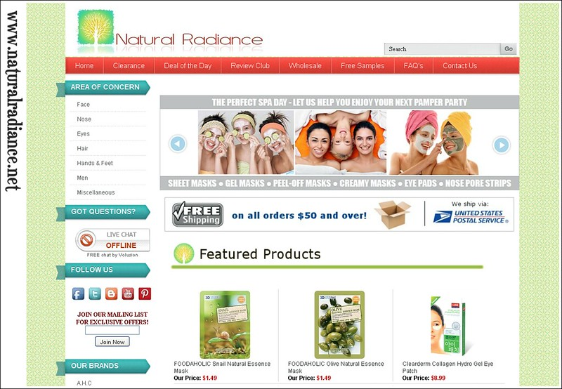 Natural Radiance Website snap