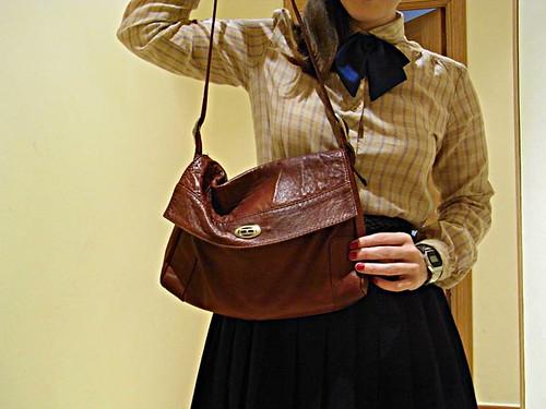 bolso marrón vintage
