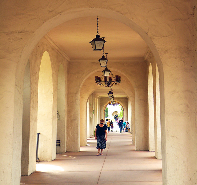 Spanish Style Arched Walkway