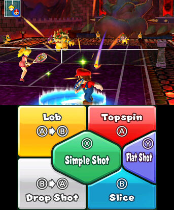 Mario Tennis Open - touch screen
