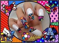 ~.Nail Art.~ Romero Brito - Mão Direita =)