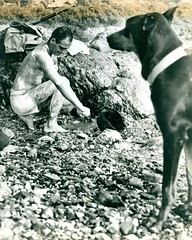 """Private First Class Fred Muscard and """"Lux"""", Okinawa, April 1945"""