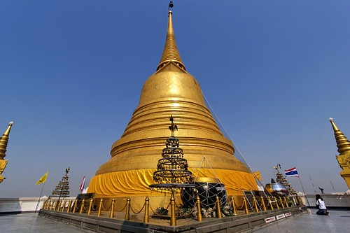 Chedi of the Temple of the Golden Mount | Bangkok