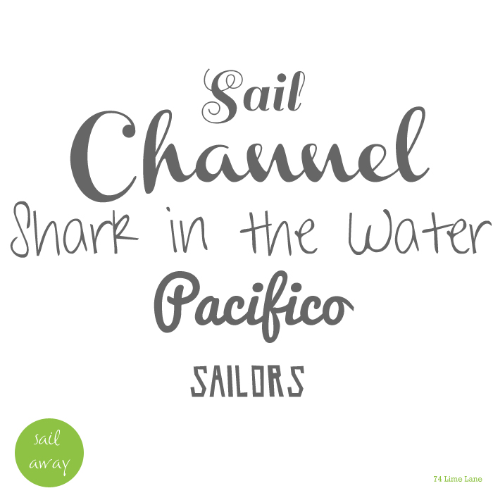 {top 5} fonts to sail away with