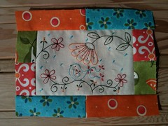 April Aurifil Block of the Month by Gail Pan