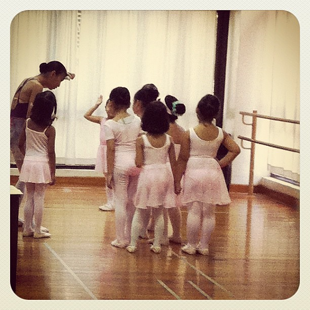 Baby #ballet will still be part of my life for the next 3 years. Cute.