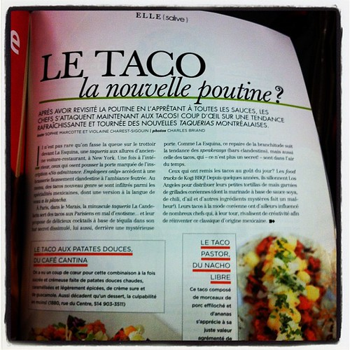 Hmmmm... Bon question Elle Québec! #taco ou #poutine ?