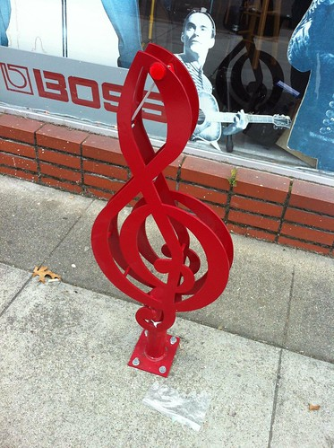 Musical Note Bicycle Rack