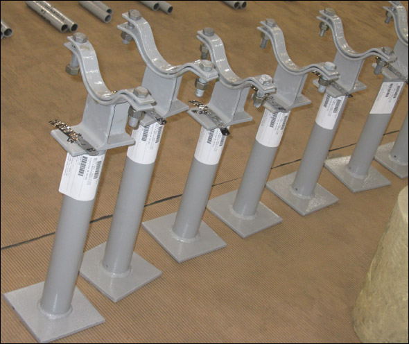 Clamp-On Pipe Shoe Assemblies Were Custom Designed For A Gold Mine Project