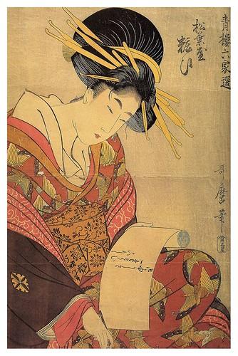 018-De la serie bellezas de la zona de ocio- la cortesana Yosoi de la casa Matsubaya-1801-1802- Kitagawa Utamaro- Zeino.Org Meine Bibliothek