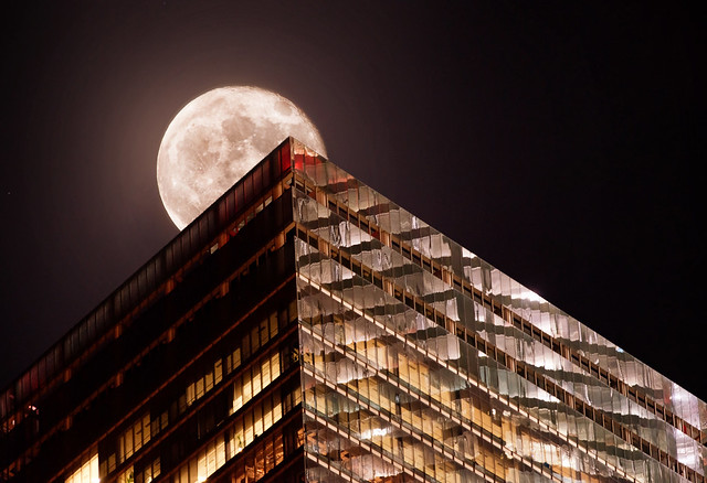 Supermoon over NYC