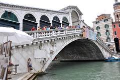 Next to the Rialto Bridge