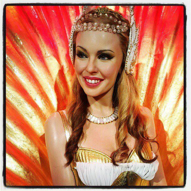 The gorgeous Australian celebrity, Kylie Minogue at Madame Tussauds Sydney