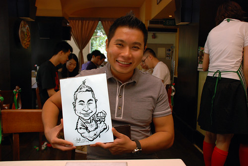Caricature live sketching at La Noce Italian Restaurant -6