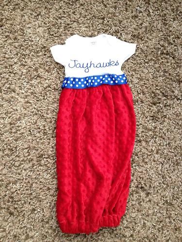 Jayhawk's Onesie Gown