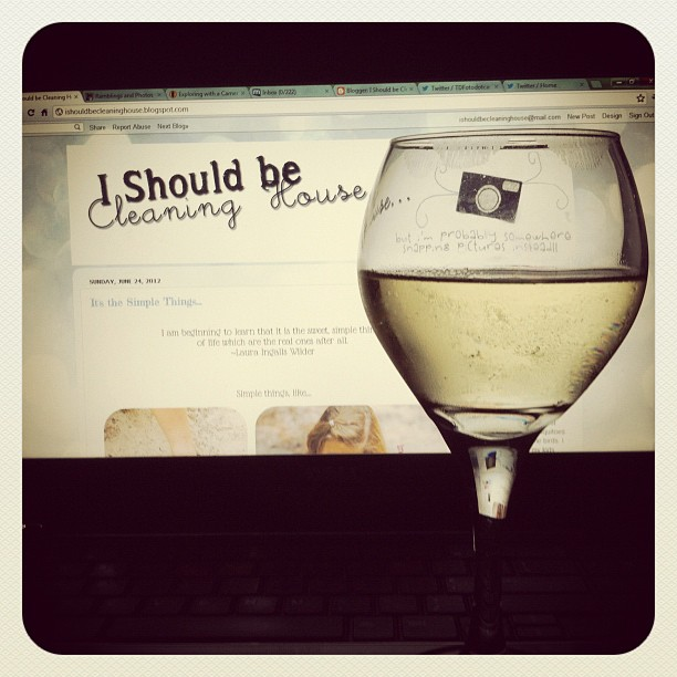 What the what?! Wine and blogging. That's what!