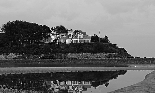House on the Hill BW