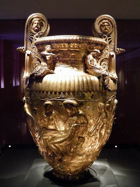 The Derveni krater, late 4th century B.C., side A, Dionysus and Ariadne, Archaeological Museum, Thessaloniki, Greece
