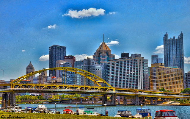 The City Of Pittsburgh From The North Shore