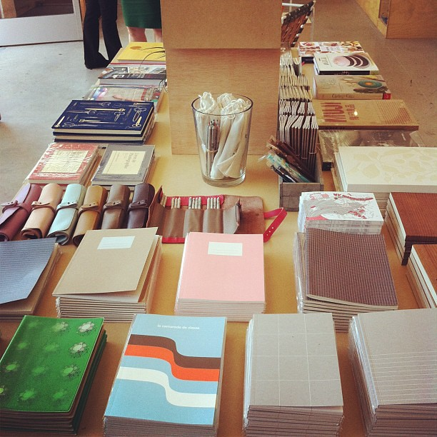 Stationery and book table