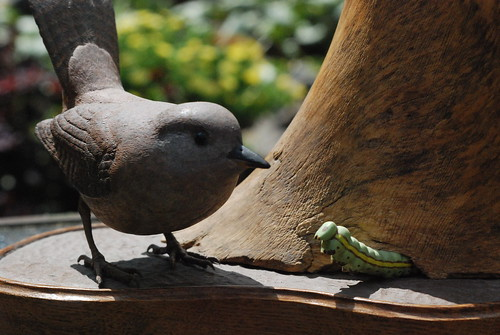 Bird and Caterpillar detail