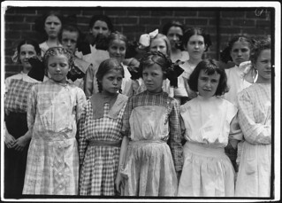 Some of the young girls who roll cigarettes. I could not induce the very smallest ones to get into the photo, June 1911