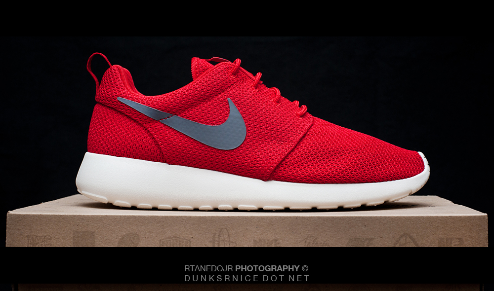 Nike Red Roshe Runs.
