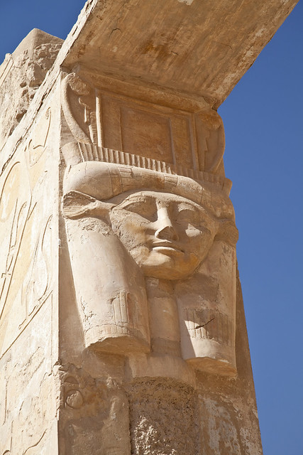 Hathor headed column