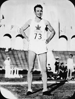 Canadian high jumper Duncan McNaughton, gold medalist at the X Summer Olympic Games, 1932 / Le sauteur en hauteur, Duncan McNaughton, du Canada, médaillé d'or aux Xe Jeux Olympiques d'été, 1932